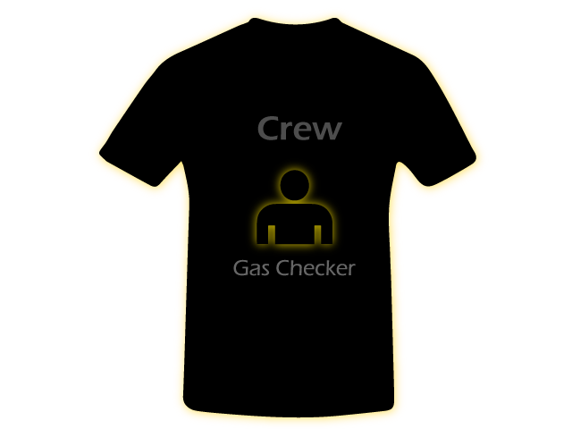 Gas Checker Crew Shirt