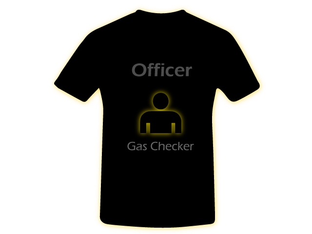 Gas Checker Officer Shirt